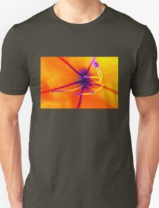 Macro of a lily flower with focus on pistil T-Shirt