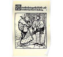 The Wonder Clock Howard Pyle 1915 0207 Peterkin Bringeth Little Silverbell of Giant to King Poster