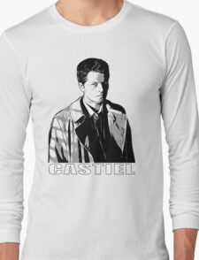 Castiel in the Shadows v2 - w/name  Long Sleeve T-Shirt