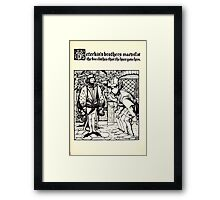 The Wonder Clock Howard Pyle 1915 0201 Peterkin's Brothers Marvel at Fine Clothes Hare Gave Framed Print