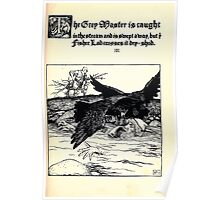 The Wonder Clock Howard Pyle 1915 0123 The Grey Master is Caught in the Stream and Swept Away Poster