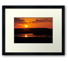Right place at the right time :) Framed Print