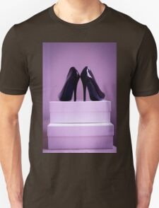 Black High Heel Shoes Unisex T-Shirt