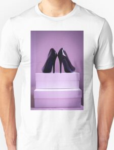 Black High Heel Shoes Unisex T-Shirt