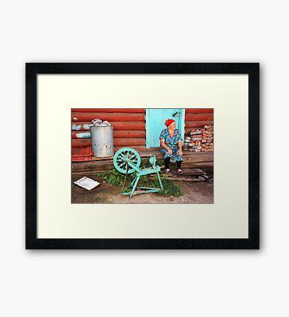 Russian Yarn Framed Print