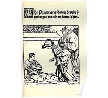 The Wonder Clock Howard Pyle 1915 0141 The Prince Sits Down Beside Garden Gate Poster