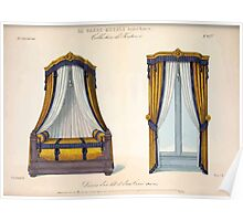 Le Garde Meuble Desire Guilmard 1839 0291 High Style Bed and Window Hanging Interior Design Poster