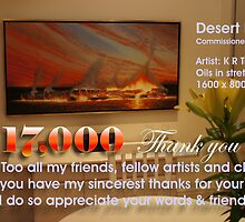 17,000 Thank you's by Ken Tregoning