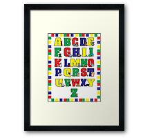 Animal Alphabet Poster (Primary Colors) Framed Print