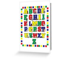 Animal Alphabet Poster (Primary Colors) Greeting Card