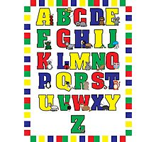Animal Alphabet Poster (Primary Colors) Photographic Print