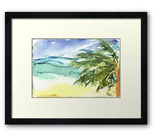 Sand and Salt Framed Print