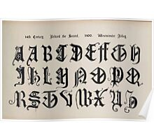 The Signist's Book of Modern Alphabets Freeman F Delamotte 1906 0141 Fourteenth Century 14th Richard the Second Westminster Abbey Poster