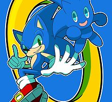Sonic & Sonic Chao by chocokay