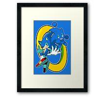 Sonic & Sonic Chao Framed Print