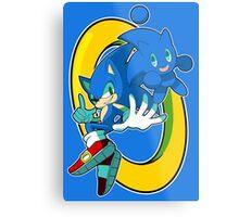 Sonic & Sonic Chao Metal Print