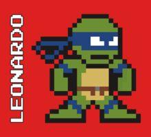 8-Bit TMNT- Leonardo Baby Tee