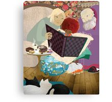 Thé et biscuits chez Mamy et Papy - Tea and biscuits at Grand-Ma and Grand-Pa Canvas Print