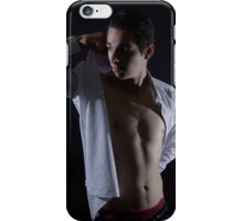 A quick change, then I'm out iPhone Case/Skin