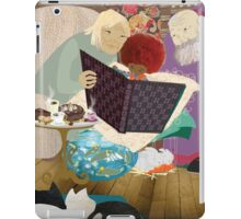 Thé et biscuits chez Mamy et Papy - Tea and biscuits at Grand-Ma and Grand-Pa iPad Case/Skin