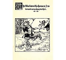 The Wonder Clock Howard Pyle 1915 0333 The Blacksmith Chooses Raven and Runs Away With It Photographic Print