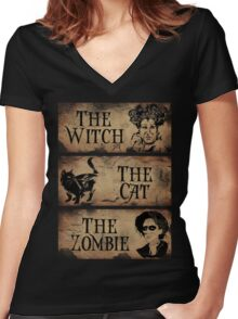 Just a bunch of Hocus Pocus Women's Fitted V-Neck T-Shirt