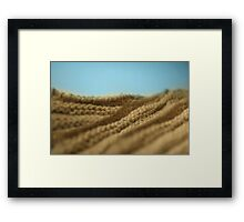 Désert tricoté - Knitted desert Framed Print