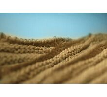 Désert tricoté - Knitted desert Photographic Print