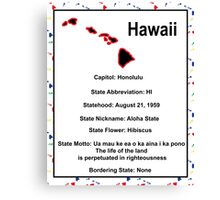 Hawaii Information Educational Canvas Print