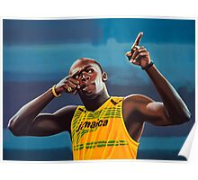 Usain Bolt painting Poster