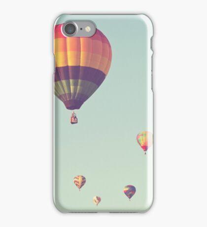 rainbow hot air balloons iPhone Case/Skin