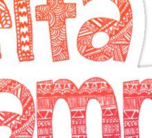 Delta Gamma Tribal Sticker Sticker