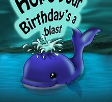 Whale Birthday Card (blank inside) by treasured-gift