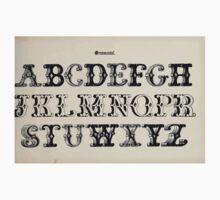 The Signist's Book of Modern Alphabets Freeman F Delamotte 1906 0043 Ornamental Kids Tee