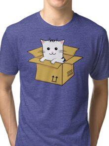 Kawaii Cat In A Box T Shirt Tri-blend T-Shirt