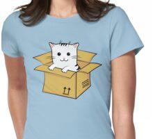 Kawaii Cat In A Box T Shirt Womens Fitted T-Shirt