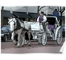 Indianapolis Carriage Driver Poster
