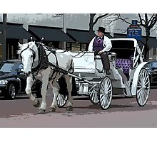 Indianapolis Carriage Driver Photographic Print