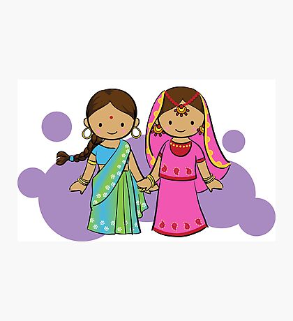 Little Indian girls Photographic Print