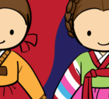 Little Korean girls Sticker