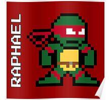 8-Bit TMNT- Raphael  Poster