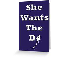 She Wants The DJ Greeting Card
