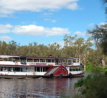 Paddlesteamer Melbourne on the Murray by Michael John