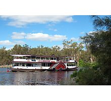Paddlesteamer Melbourne on the Murray Photographic Print