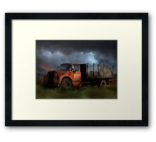 The Last Delivery Framed Print