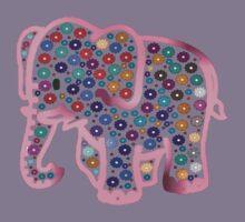 Pink Elephant Kids Tee