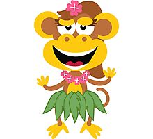 Cute Hawaiian Hula Monkey Photographic Print