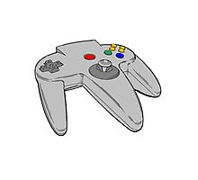 Vintage Nintendo 64 Controller Photographic Print