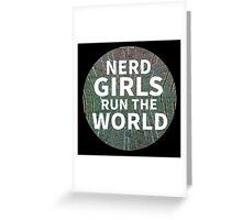 Nerd Girls Greeting Card