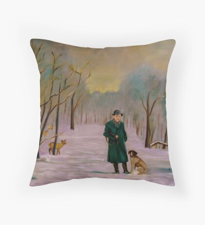 Going hunting with Lux Throw Pillow
